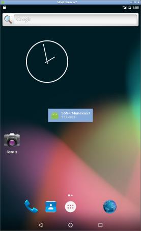 Min Nexus 7 körs nu i en emulator.